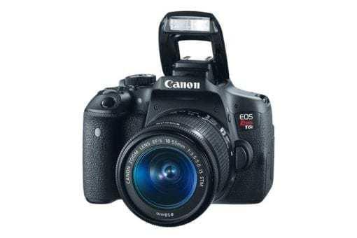 eos rebel t6i dslr camera 3q flash d 510x340 - Canon EOS Rebel T6i EF-S 18-55mm IS STM Lens Kit