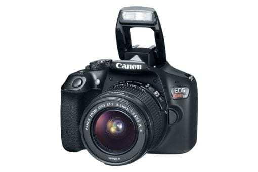 eos rebel t6 3q flash 675x450 510x340 - Canon EOS Rebel T6 Digital SLR Camera + 18-55mm EF-S f/3.5-5.6 IS II Lens