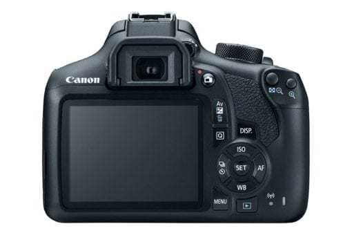 eos rebel t6 back d 510x340 - Canon EOS Rebel T6 Digital SLR Camera + 18-55mm EF-S f/3.5-5.6 IS II Lens