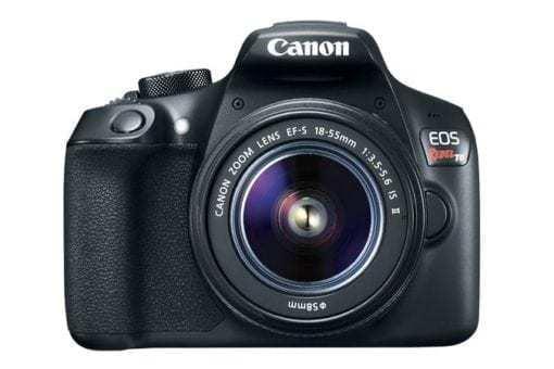 eos rebel t6 front d 510x340 - Canon EOS Rebel T6 Digital SLR Camera + 18-55mm EF-S f/3.5-5.6 IS II Lens
