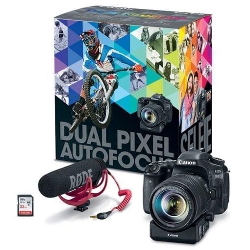 418dd632 4fc8 4599 af50 dddc35066109 510x510 - Canon EOS 80D Video Creator Kit with EF-S 18-135mm 1:3.5-5.6 IS USM Lens, Black (1263C103)