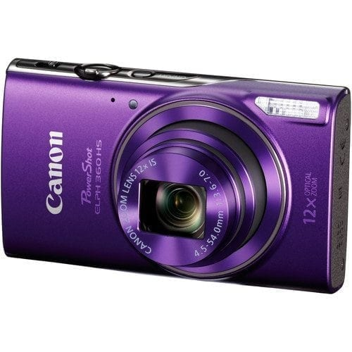 5ecbec56 7f0e 45f2 95b3 6d0ecfb35bcf - Canon PowerShot ELPH 360 HS (Purple) with 12x Optical Zoom and Built-In Wi-Fi