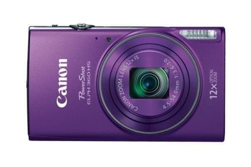 PowerShot ELPH 360 HS Purple 3 xl 510x340 - Canon PowerShot ELPH 360 HS with 12x Optical Zoom and Built-In Wi-Fi (Purple)