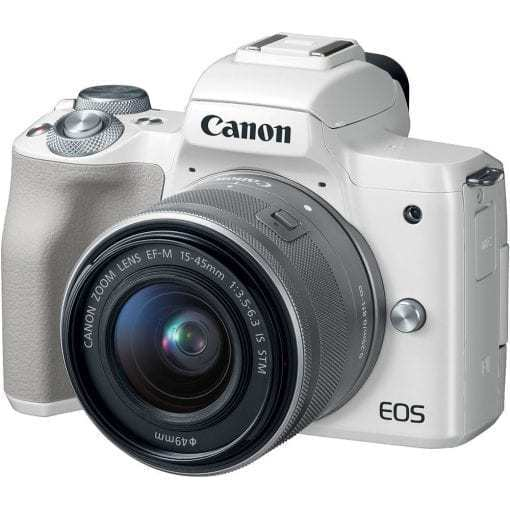 Canon EOS M50 Mirrorless Digital Camera with 15 45mm Lens White 01 510x510 - Canon EOS M50 Mirrorless Camera Kit w/ EF-M15-45mm Lens and 4K Video (White)