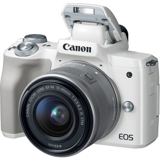 Canon EOS M50 Mirrorless Digital Camera with 15 45mm Lens White 02 510x510 - Canon EOS M50 Mirrorless Camera Kit w/ EF-M15-45mm Lens and 4K Video (White)