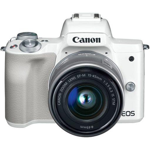 Canon EOS M50 Mirrorless Digital Camera with 15 45mm Lens White 03 510x510 - Canon EOS M50 Mirrorless Camera Kit w/ EF-M15-45mm Lens and 4K Video (White)