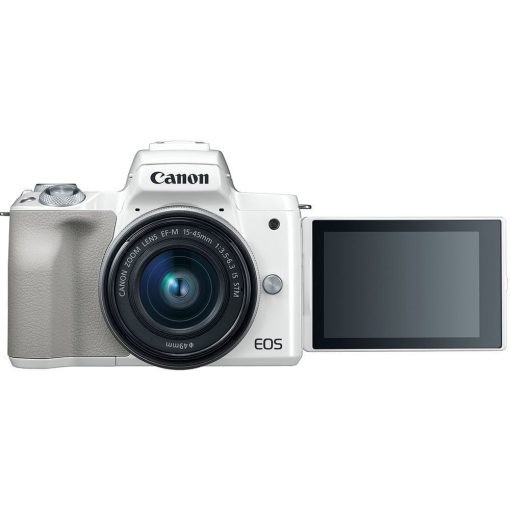 Canon EOS M50 Mirrorless Digital Camera with 15 45mm Lens White 04 510x510 - Canon EOS M50 Mirrorless Camera Kit w/ EF-M15-45mm Lens and 4K Video (White)