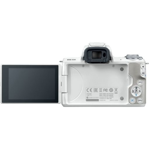 Canon EOS M50 Mirrorless Digital Camera with 15 45mm Lens White 05 510x510 - Canon EOS M50 Mirrorless Camera Kit w/ EF-M15-45mm Lens and 4K Video (White)