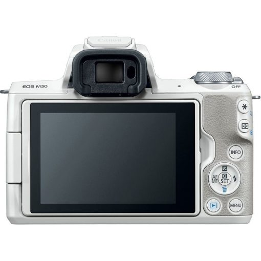 Canon EOS M50 Mirrorless Digital Camera with 15 45mm Lens White 07 510x510 - Canon EOS M50 Mirrorless Camera Kit w/ EF-M15-45mm Lens and 4K Video (White)