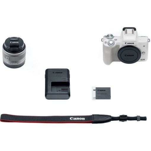 Canon EOS M50 Mirrorless Digital Camera with 15 45mm Lens White 09 510x510 - Canon EOS M50 Mirrorless Camera Kit w/ EF-M15-45mm Lens and 4K Video (White)