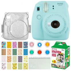 aacd5aac 8f3f 4067 bd66 dc29d55e400a 247x247 - Fujifilm Instax Mini 9 Instant Camera (Ice Blue) + Fujifilm Instax Mini Twin Pack Instant Film (20 Exposures) + Glitter Hard Case + Colored Filters + Album (White) + Sticker Frames Nature Package