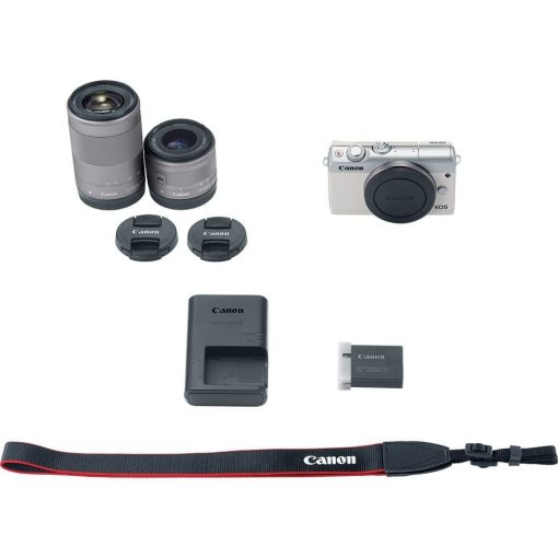 Canon EOS M100 Mirrorless Digital Camera with 15 45mm and 55 200mm Lenses White 015 510x510 - Canon EOS M100 Mirrorless Digital Camera with 15-45mm and 55-200mm Lenses (White)