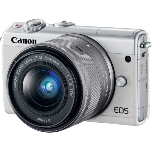 Canon EOS M100 Mirrorless Digital Camera with 15 45mm and 55 200mm Lenses White 02 510x510 - Canon EOS M100 Mirrorless Digital Camera with 15-45mm and 55-200mm Lenses (White)