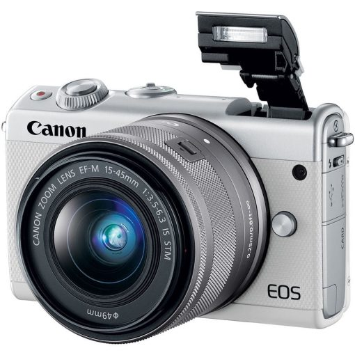 Canon EOS M100 Mirrorless Digital Camera with 15 45mm and 55 200mm Lenses White 03 510x510 - Canon EOS M100 Mirrorless Digital Camera with 15-45mm and 55-200mm Lenses (White)