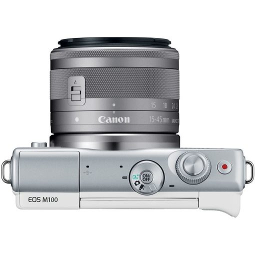Canon EOS M100 Mirrorless Digital Camera with 15 45mm and 55 200mm Lenses White 09 510x510 - Canon EOS M100 Mirrorless Digital Camera with 15-45mm and 55-200mm Lenses (White)