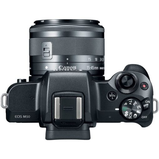 Canon EOS M50 Mirrorless Digital Camera with 15 45mm and 55 200mm Lenses Black 05 510x510 - Canon EOS M50 Mirrorless Camera Kit w/  EF-M15-45mm + EF-M 55-200mm Lenses and 4K Video (Black)