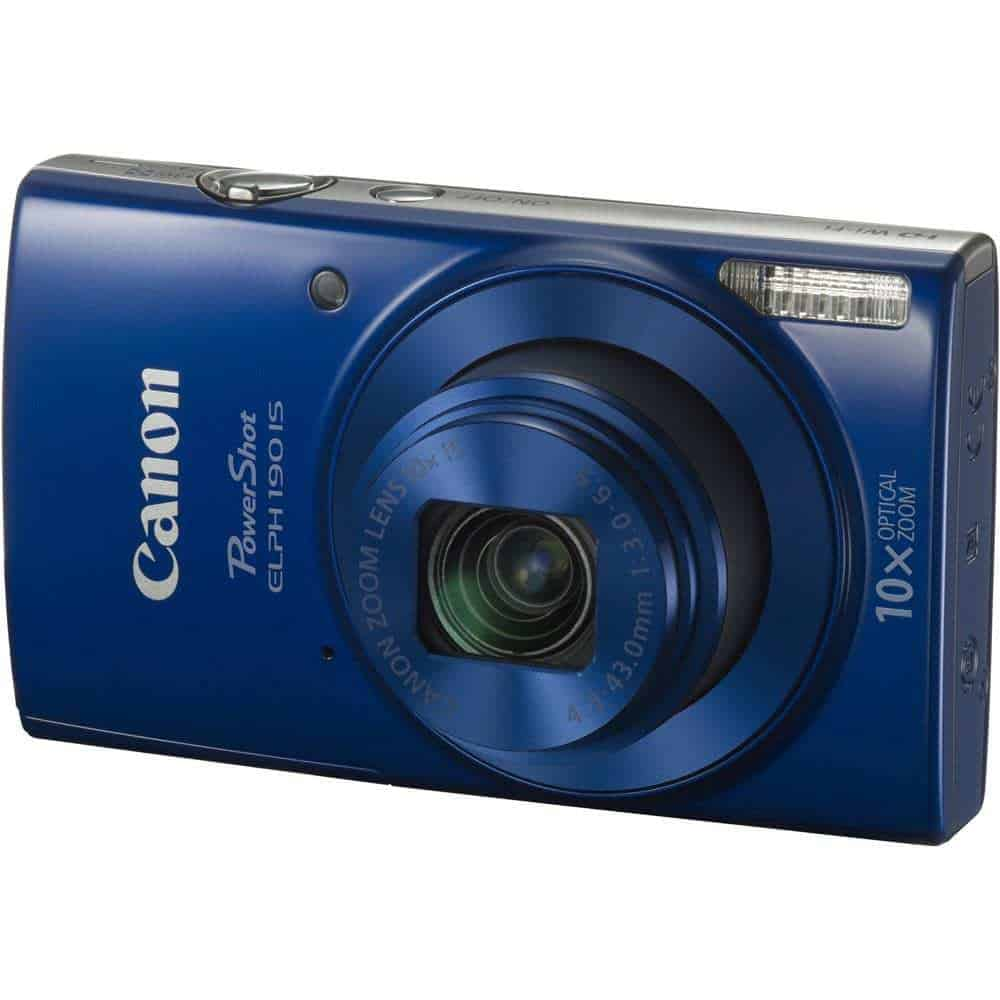 Canon PowerShot ELPH 190 IS Digital Camera Blue 01 - Home Page