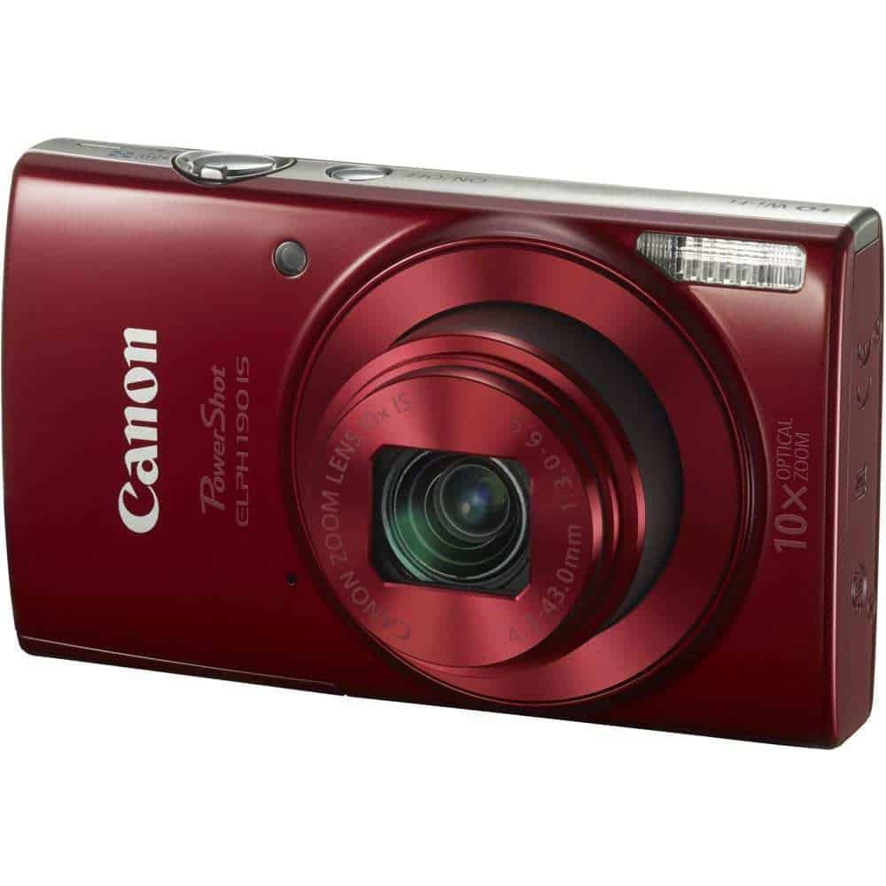 Canon PowerShot ELPH 190 IS Digital Camera Red 01 - Home Page