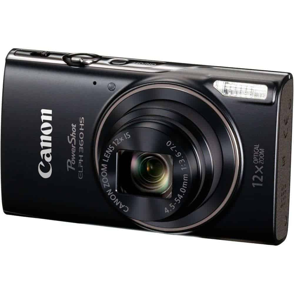 Canon PowerShot ELPH 360 HS Digital Camera Black 01 - Home Page