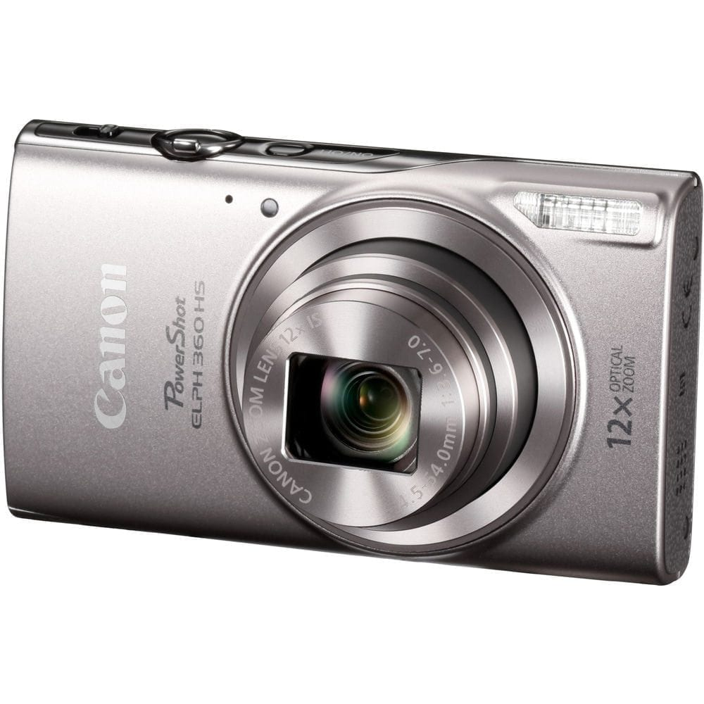 Canon PowerShot ELPH 360 HS Digital Camera Silver 01 - Home Page