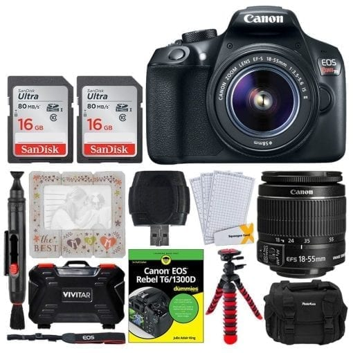 ae150e4c 8066 4802 84a1 33055196f468 510x510 - Canon EOS Rebel T6 SLR Camera 18-55mm + 32GB + Dummies Book - Bundle